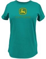 John Deere Dark Turquoise Logo Tee - Plus Too