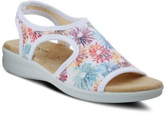 Spring Step Flexus By Floral Slingbacks - Nyaman-Crysanth