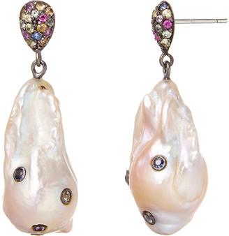 MCL by Matthew Campbell Laurenza Sapphire & Baroque Pearl Drop Earrings