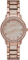 RELIC Relic Womens Crystal Rose-Tone Bracelet Watch