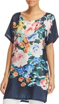 Johnny Was Collection Floral Print Tunic