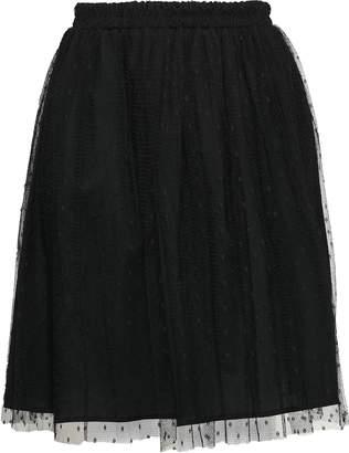 RED Valentino Point D'esprit Flared Skirt