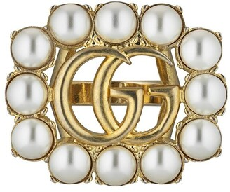 Gucci pearl Double G ring