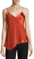 Prabal Gurung Scoop-Neck Silk Camisole, Brick