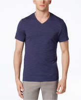 Alfani Men's Stretch Birdseye Stripe V-Neck T-Shirt, Created for Macy's