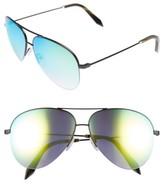 Victoria Beckham Women's 62Mm Aviator Sunglasses - Black/ Azure Mirror