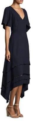 Derek Lam Silk Flutter Sleeve Dress