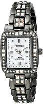 Swarovski Armitron Women's 75/5057MPDG Aurora Borealis Crystal Accented Gunmetal Bracelet Watch