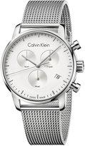 Calvin Klein city Men's Swiss Chronograph Stainless Steel Mesh Bracelet Watch 43mm K2G27126