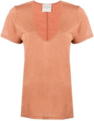 Forte Forte v-neck linen T-shirt