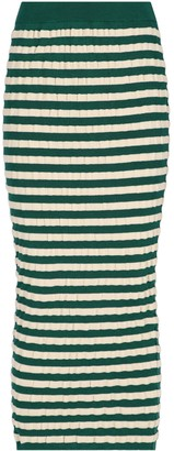 Marni Striped Long Skirt