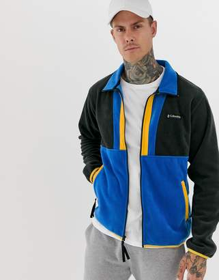 Columbia Back Bowl full zip fleece in blue