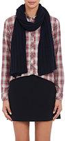 Barneys New York Women's Rib-Knit Cashmere-Silk Scarf-NAVY