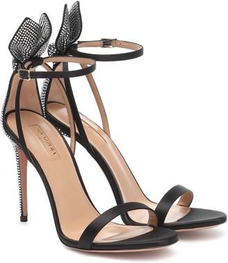 Aquazzura Bow Tie 105 satin sandals