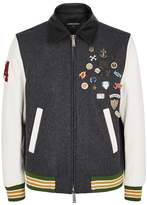 DSQUARED2 Scout Wool Blend Bomber Jacket