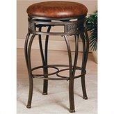 Hillsdale Montello Backless Swivel 26 Inch Counter Height Stool