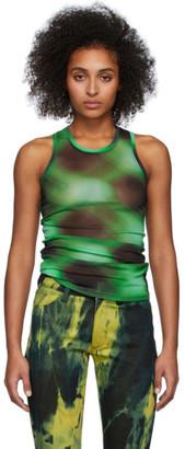 Mowalola Black and Green Petrol Tank Top