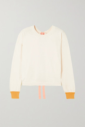 Marni Open-back Color-block Cotton And Cashmere-blend Sweater - White