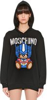 Moschino Oversized Embroidered Jersey Sweatshirt