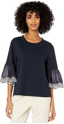 See by Chloe Embellished T-Shirt (Ink Navy) Women's Clothing