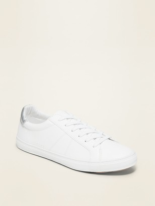 Old Navy Faux-Leather Sneakers for Women