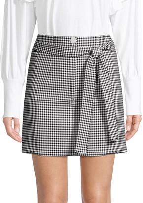 Robert Rodriguez Lexy Mini Check A-Line Skirt