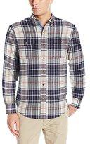 Izod Men's Long Sleeve Saltwater Flannel Plaid Shirt