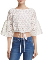 Milly Lydia Floral Embroidered Top