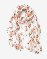 White House Black Market Floral Skinny Scarf