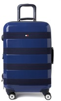 """Tommy Hilfiger Rugby Stripe 20"""" Upright Spinner Suitcase"""