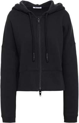 Alexander Wang Melange Cotton-blend Fleece Hoodie