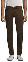 Gilded Age Solid Buttoned Slim Jeans