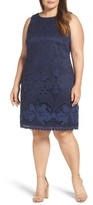 Eliza J Plus Size Women's Lace Patterned A-Line Dress