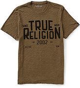 True Religion Short-Sleeve Crewneck Logo Graphic Tee