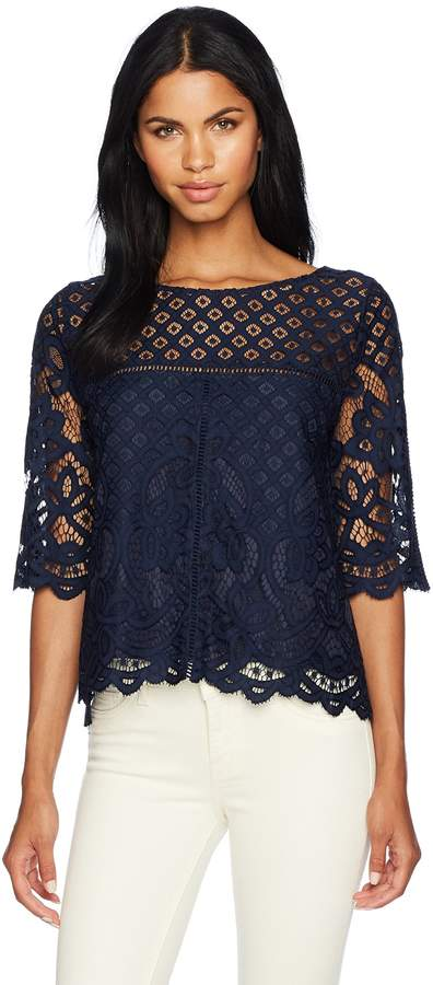 Cupcakes And Cashmere Women's Andrie Lace Blouse