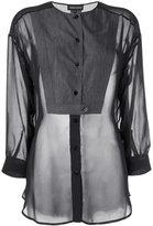 Emporio Armani sheer blouse - women - Cotton/Polyester - 38