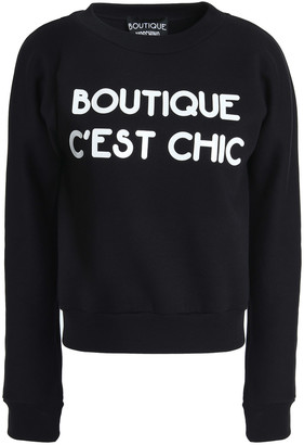 Boutique Moschino Appliqued French Cotton-terry Sweatshirt