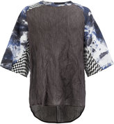 Yang Li multi-printed sleeves T-shirt - men - Cotton/Metallic Fibre - 46