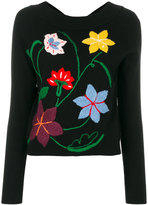 Semi-Couture Semicouture floral embroidery jumper