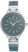 Anne Klein Light Blue Denim Bangle Watch, AK-1408DKDM