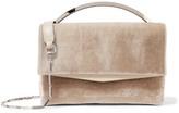 Eddie Borgo Boyd Vanity Leather-trimmed Velvet Shoulder Bag - one size