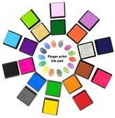 Finger s, Proboths 20 Colors Washable Rainbow Craft Finger Set for Kids, DIY, Rubber Stamp Card Making and Wedding Fingerprint Tree
