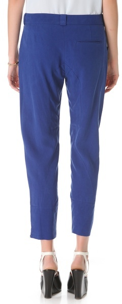 Derek Lam 10 Crosby Slouchy Silk Trousers