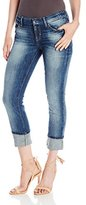GUESS Women's Pencil Skinny Mid-Rise Jean In Blue Side Wash