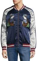 Standard Issue NYC Geisha Printed Colorblock Jacket