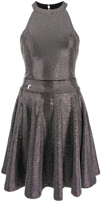 Philipp Plein Crystal Embellished Mini Dress