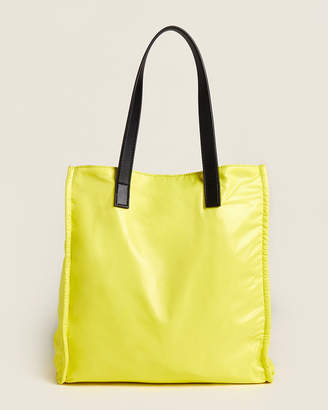French Connection Neon Yellow & Black Heidi Reversible Tote