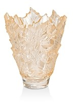 Lalique Champs-Elysees Vase, Gold Luster