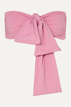 BONDI BORN + Net Sustain Neve Tie-front Bikini Top - Pink