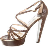 Jimmy Choo Metallic Platform Sandals